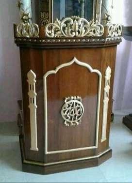 mimbaer masjid ukir full mewah