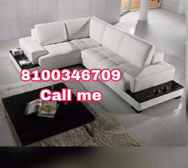 White leatherate sofa