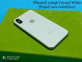 iPhone X ~ 256gb ~ White colour. Brand New Condition!!