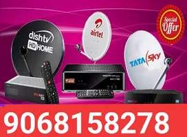 Tat sky HD Airtel Videocon Dish TV connection
