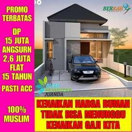 Rumah murah syariah di Sidoarjo DP 15 juta langsung angsur 2,6 flat