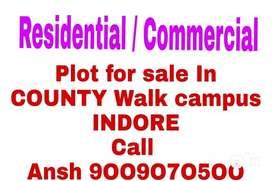 Resale Plot In county walk Township AB bypass Road Jhalaria Indore