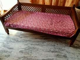 Teakwood Diwan cot of size 3X6
