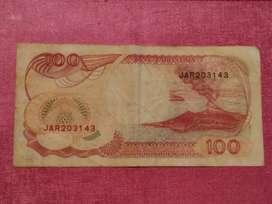 Uang kertas Rp. 100 thn 1992