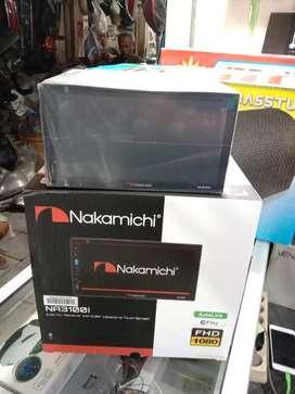 Tv DobelDin Nakamichi DVD layar sentuh 6.95 in FHD 1080 NA 3100i
