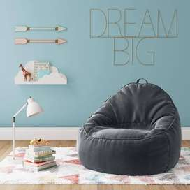 Sofa Lounger Bean Bag Leather XXL by Baggy Beans