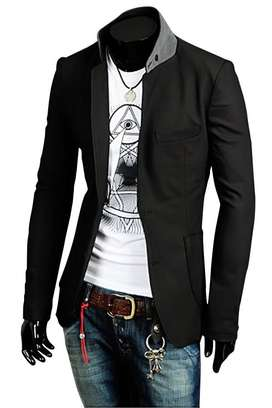 Blazer Casual, Blazer Formal, Blazer Black Homme Korean Style