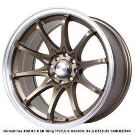 VELG RACING HSR R17X75/9 H8X100-114,3 ET35/25 SMBRZ/M