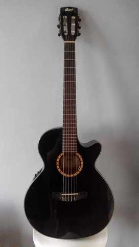 Cort CEC-5 BLK Gitar Nylon Elektrik