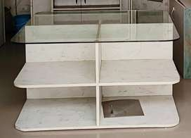 Glass top display counter. With storage