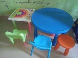 Meja + kursi anak IKEA