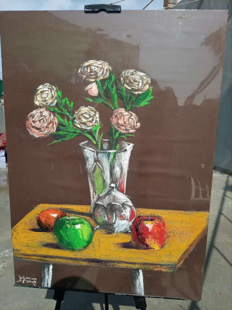 Wooden frame oil painting ,size:19/27 inches
