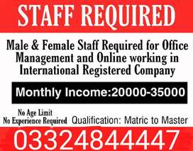 Jobs available for male female  no experience required