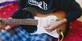 Electric guitar fender squier