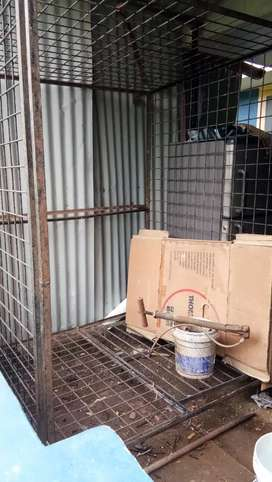 Cage for dogs used