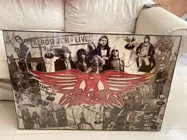 Poster Aerosmith beserta song list Summer tour 2010 @ dte , Michigan .