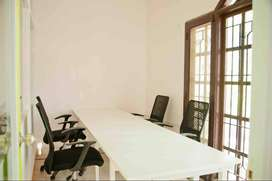 5 workstation with glass cabin is ready to occupy indiranagar