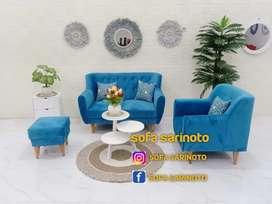 Sofa retro ligh blue