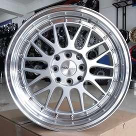 Velg Mobil Lemans Ring 17 HSR Wheel Silver Machine Face