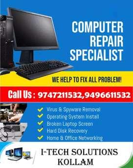 COMPUTER  LAPTOP,PRINTER,CCTV SERVICE