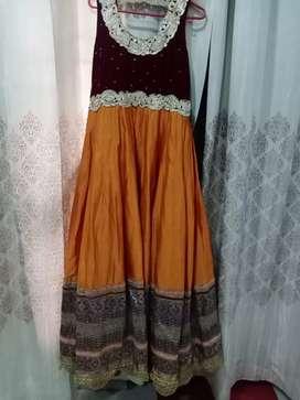 Gown orange mehroon