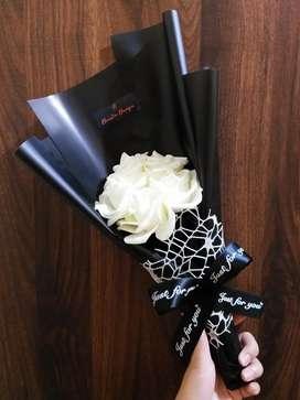 Buket bunga mawar artificial cantik