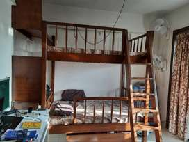 Bunk bed of solid wood