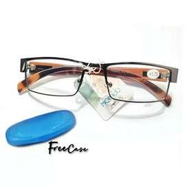 Kacamata baca ( plus)+2,25 Frame logam kualitas baik& mewah