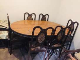 Wood Dining table and dining chair for sale