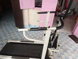 Aquafit 4 in 1 Deluxe Manual Treadmill with Twister, Stepper