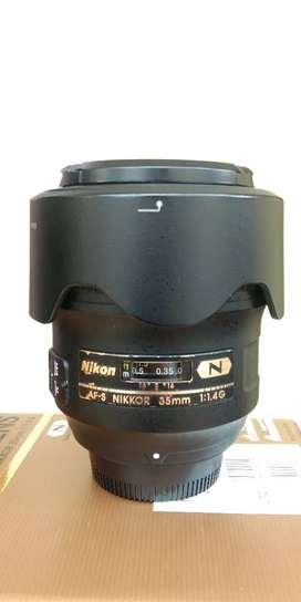 Lensa AF-S Nikkor 35 mm F1.4 Nano