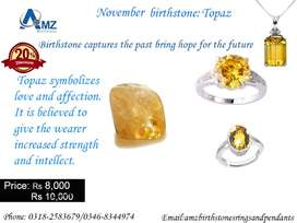 925 Sterling Silver Topaz Ring and Pendants