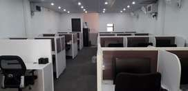 Fully furnished office with 38 system and tables