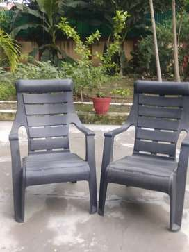 Plastic reclined chair