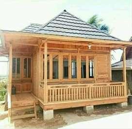 Rumah Kayu Khas Palembang Knockdown Free Ongkir