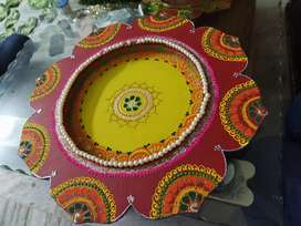 Handicraft diwali and karwa chaut thali