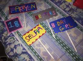 Hand made birth day party props