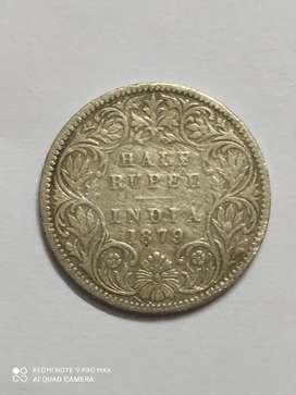 1879 half rupee coin for 7 lack