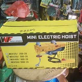 Mini Electric Chain hoist 250/500 kg Katrol listrik mini