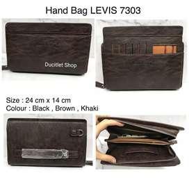 Tas Tangan Kulit/Hand Bag Leather Man/Clutch Wallet/Dompet Levis