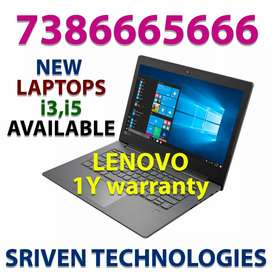 Offer - New Lenovo Dell Laptops Available i3 - i5 at lowest rates
