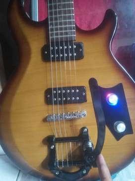 Yamaha elektrik guitar istimewa bigsby LED