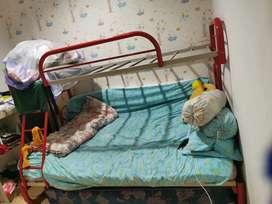 Ranjang bunk bed 2 tingkat bawah 120x200 atas 90x200