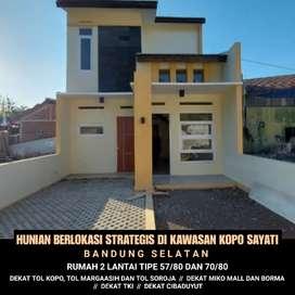 Rumah murah 2 lantai di Kopo, TKI, Cibaduyut, Kopo Permai, Bandung