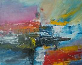 Lukisan Acrylic on Canvas
