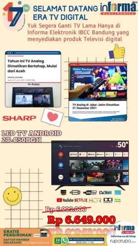 "SHARP NEW 2021 ANDROID  LED TV 50"" HANYA 6,9 JT INFORMA IBCC LT 3"