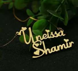 Gold coating  name spelling necklaces