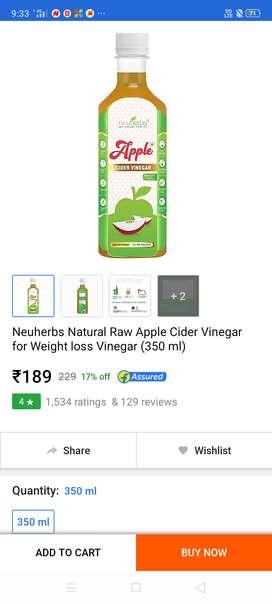 Apple cider vinegar for weight loos