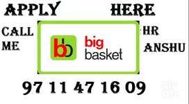 BIG BASKET Company full time job store keeper helper supervisor