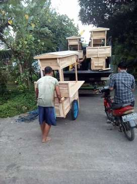 Gerobak Angkringan Fullset Kirim Pulau Jawa Bali